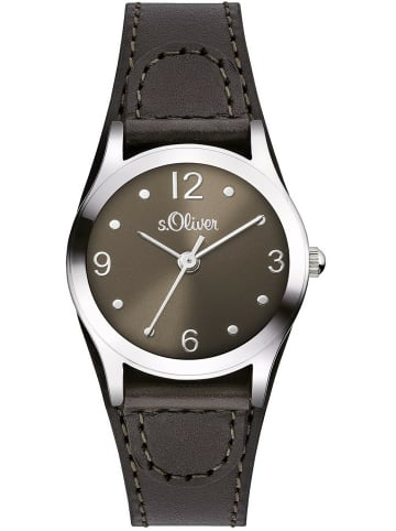 S.Oliver Time Armbanduhr in braun
