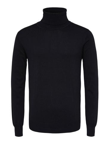 Bertoni Rollkragenpullover Henrik Slim Roll Neck Knit in jet black