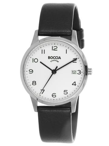 Boccia Titan-Armbanduhr für Damen Silber / Schwarz
