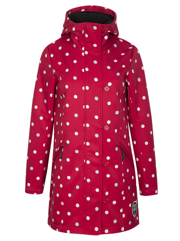 Pussy Deluxe Softshellmantel White Dots Softshell in rot