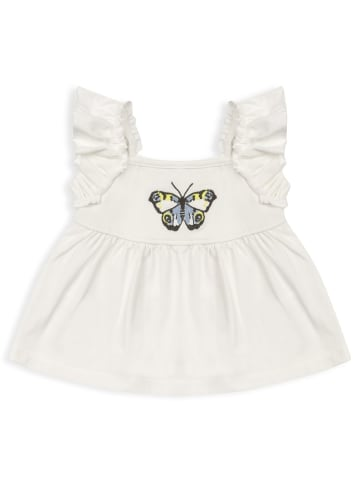 Panco Unterhemd - mit Schmetterlingen - für Mädchen in Weiß