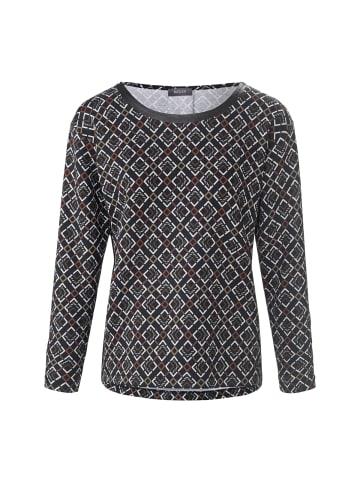 Basler Langarmshirt in black multicolour
