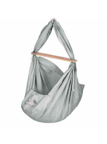 Schmusewolke Baby Federwiege mit Kunstfaser Matratze in Grau