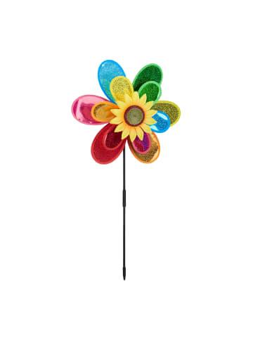 Relaxdays Windrad Blume in Bunt - (B)37,5x (H)74,5 x (T)14 cm