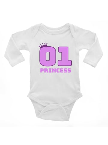 Idil Baby Baby-Body -princess in Weiss