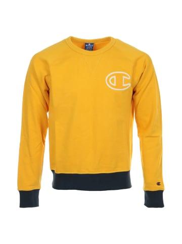 Champion Sweatshirt C-Logo Crewneck in Gelb