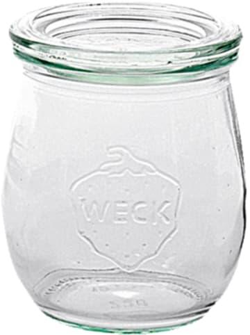 """WECK 12er-Set Eingläser """"Tulpe"""" mitDeckel, 200 ml"""