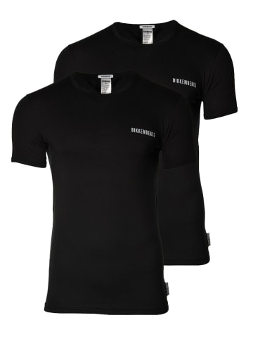 Bikkembergs T-Shirt 2er Pack in Schwarz