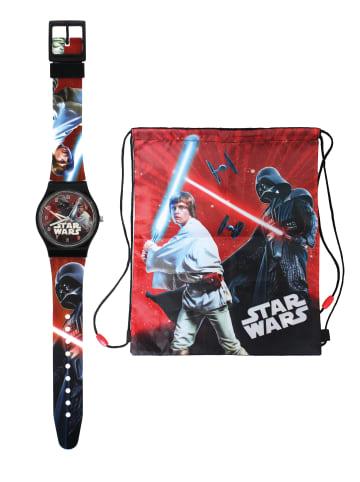 """Star Wars 2-tlg. Set: Uhr und Zugband-Rucksack """"Star Wars"""""""