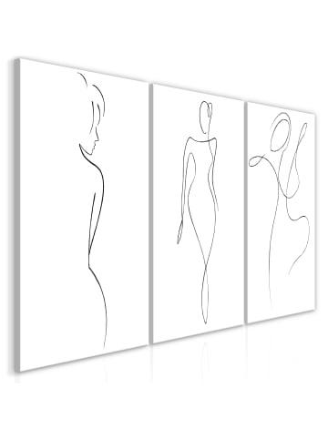 Artgeist Wandbild Silhouettes (Collection) in schwarz-weiß