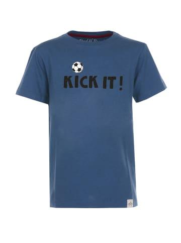 """Band of Rascals T-Shirt """" Kick """" in blau"""