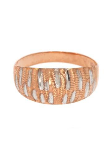 """Luxxos Ring """"Struktur bicolor"""" in gold und silber"""