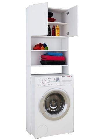 VCM  Waschmaschinenschrank Überbau Jutas in Weiß