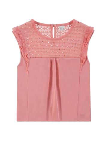 Königsmühle T-Shirt mit Flügelärmel in flamingo pink