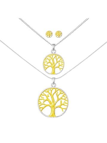 Alexander York Schmuckset TREE OF LIFE in 925 Sterling Silber mit Gelb-Gold, 6-tlg.