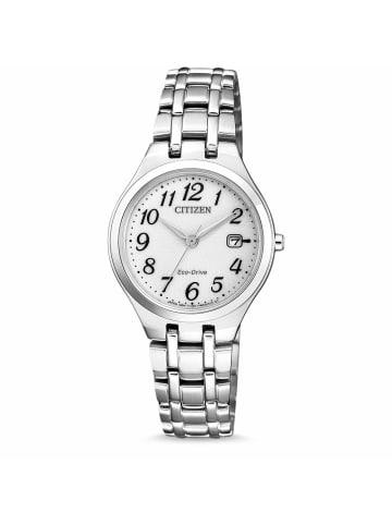 Citizen Analog Uhr 'EW2480' In weiß/Silber