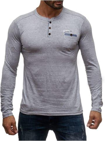 98-86 Longsleeve Pullover Hemd Sweat Shirt H1354 in Grau