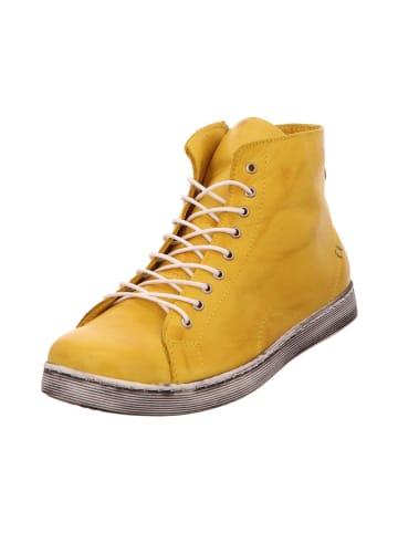 Esgano Stiefelette in gelb