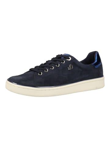 S.Oliver BLACK LABEL Sneaker in Navy
