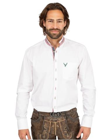 OS-Trachten Stehkragenhemd 420000-3684-1 weiß rot