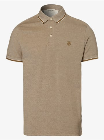 Selected Poloshirt in sand