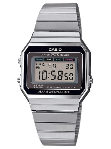 Casio Vintage Damen-Digitaluhr Anthrazit / Silber