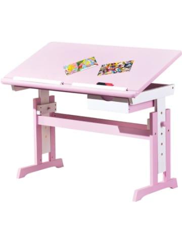 Inter Link ABC Schreibtisch TITJE, höhenverstellbar, rosa/weiß