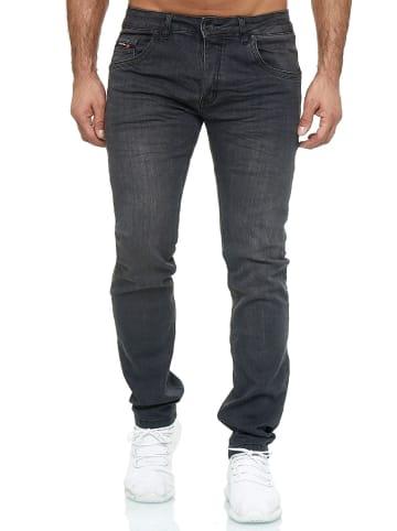 WANGUE Denim Jeans Hose Washed in Grau