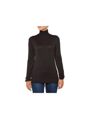 ICHI Pullover in schwarz