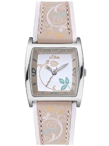 S.Oliver Time Armbanduhr in beige
