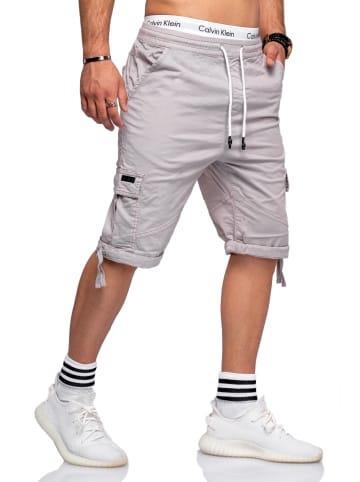 Behype Shorts ADRIANO in grau