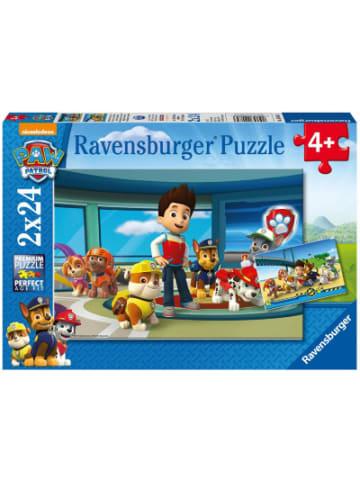 Ravensburger 2er Set Puzzle, je 24 Teile, 26x18 cm, Paw Patrol