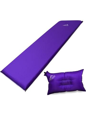Normani Selbstaufblasbare Luftmatratze und Luftkissen in Violett