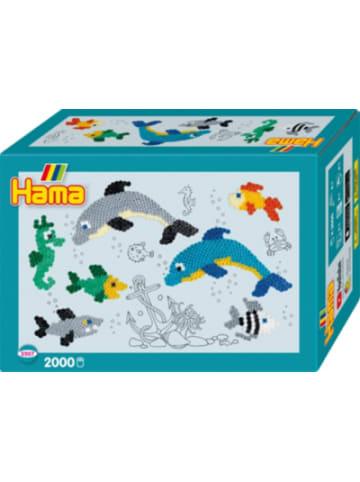 Hama Bügelperlen HAMA 3507 Geschenkpackung Delfine, 2.000 midi-Perlen & Zubehör