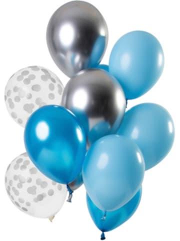 FOLAT Luftballons Aquamarin 30 cm, 12 Stück