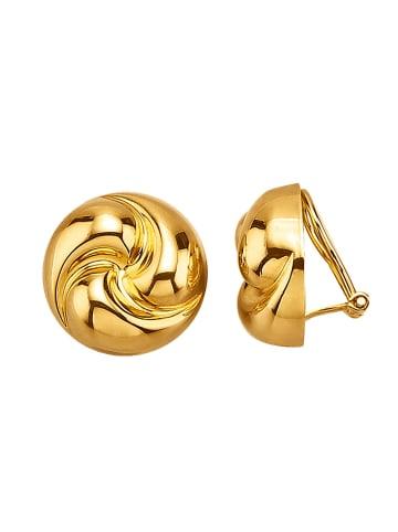 Golden Style Ohrclips vergoldet in Gelbgoldfarben