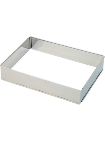 LARES Edelstahl Tortenrahmen ausziehar 17-32 x 25-46 x 4,7 cm