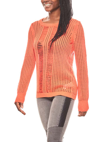Corley Grobstrick-Pullover in Rot