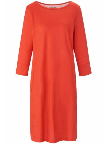 Green Cotton Jerseykleid Jersey-Kleid mit 3/4-Arm in mohnrot