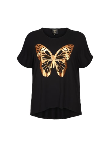 NO.1 by OX Kurzarm T-shirt Butterfly in schwarz