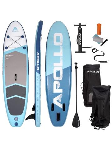 "Apollo Aufblasbares Stand Up Paddle Board "" SUP - Shark "" in blau"