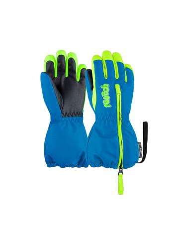Reusch Fingerhandschuhe Tom in 4525 brilliant blue/safety yel