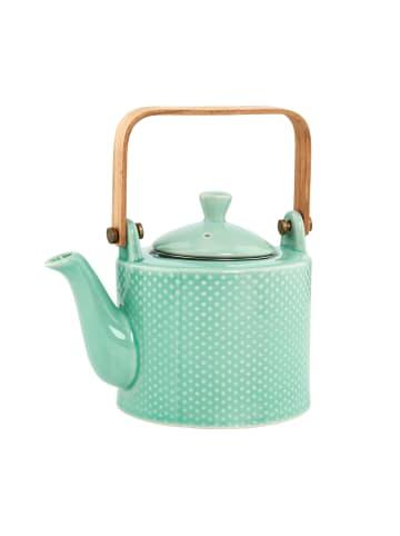 Butlers Teekanne mit Holzgriff 750ml HANAMI in türkis