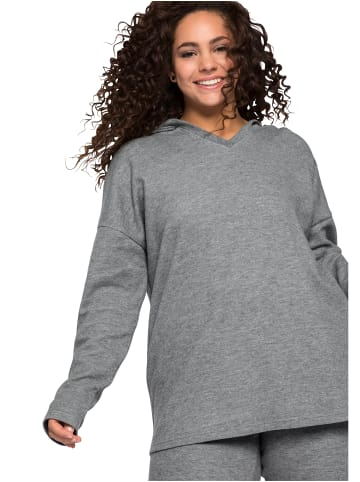 Sheego Sweatshirt in dunkelgrau meliert
