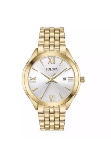 Bulova Analog Uhr 'Dress' in Gold/Silber