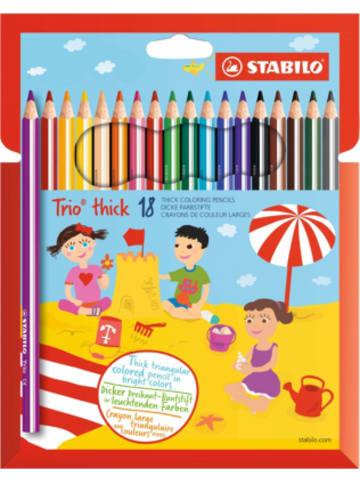 STABILO Dreikant-Buntstifte Trio dick, 18 Farben