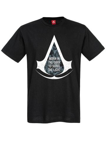 Ubisoft T-Shirt Assassins Creed Work In The Dark in schwarz
