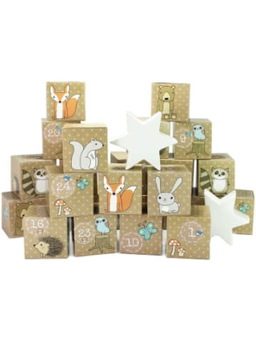 PAPIERDRACHEN Adventskalender Kisten bedruckt - Waldtiere