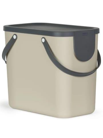 Rotho Albula Mülltrennungssystem 25l in braun/anthrazit