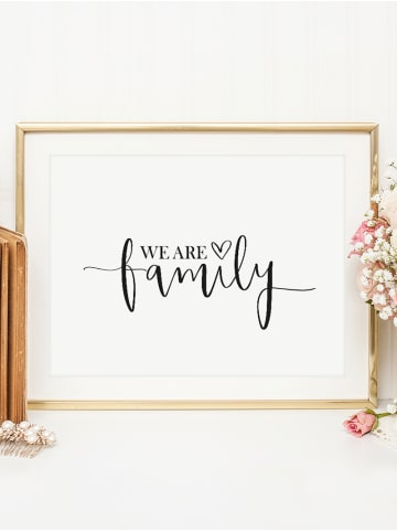 "Tales by Jen Poster / Kunstdruck ""We are family"" I Ohne Rahmen"
